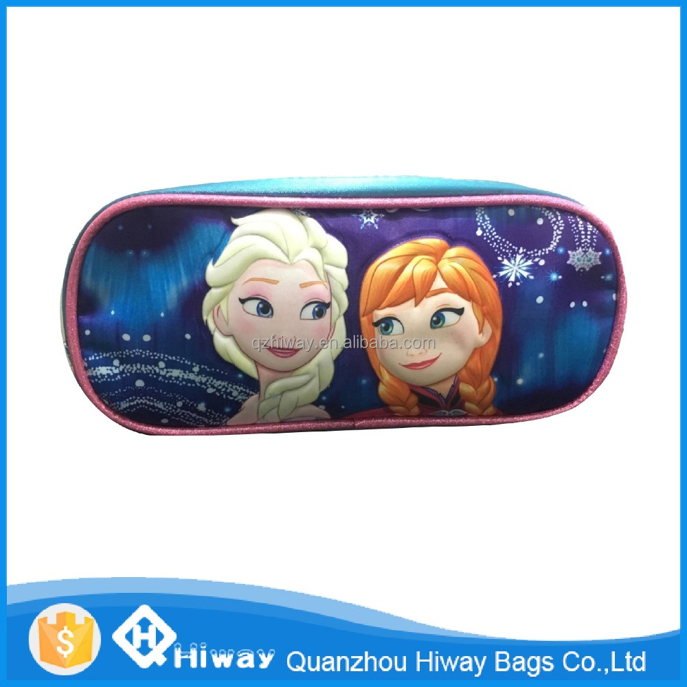 2016 new design frozen stationary, frozen pencil case, funny pencil bag for kids