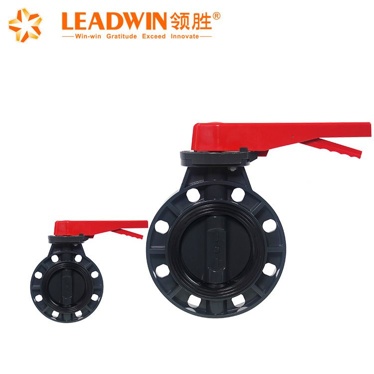 "UPVC butterfly valve schrader 2""-24"" PVC crane butterfly valves with reasonable price"