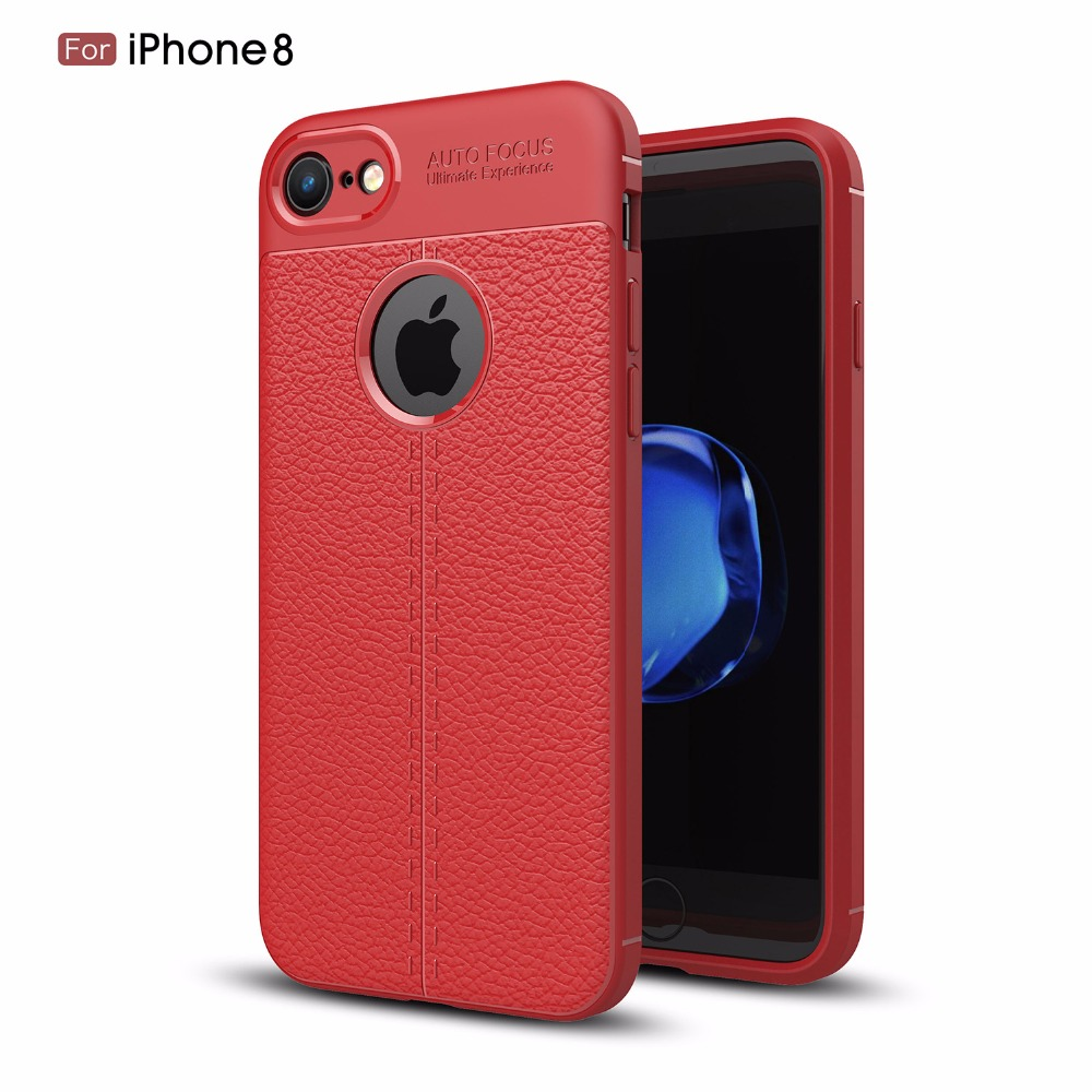 For Sale New Leather Design Shockproof TPU Protective Mobile Phone Back Cover <strong>Case</strong> For iPhone 8 8 Plus