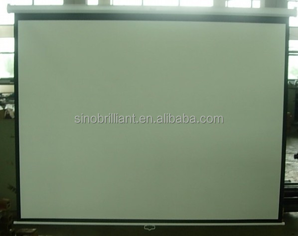 "70""x70"" 1:1 manual wall projection / projector screen with self-lock"