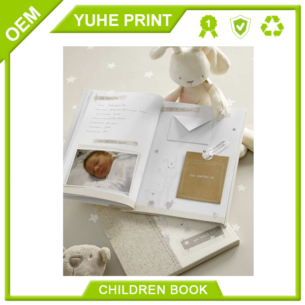 Newly cheap wholesale environmental protection style baby memory book with perforation