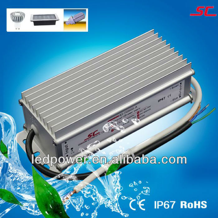 KI-70900-A Waterproof 60W 900mA constant current dc led driver