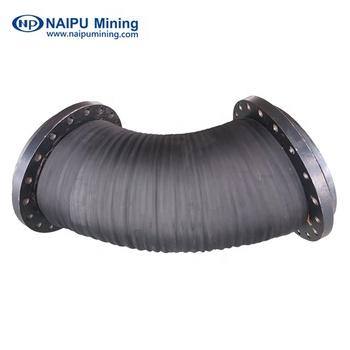 Rubber mining hoses for transferring slurry with multi-layer rubber and steel wire skeleton and non-metal reinforcement layers