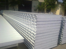 Prefabricated steel building cladding roof and wall EPS sandwich panel