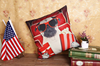 2016 cool dog printed nap pillow cover linen square back cushion