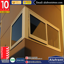 aluminum awning winder opener/top hung glass window in high quality