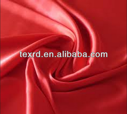Polyester Satin Plain Woven Fabric For Garment