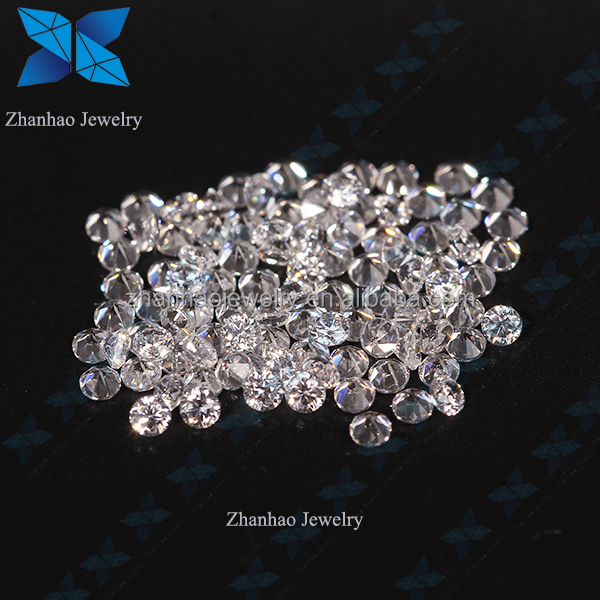 In Stock AAAAA European Machine cut Small size White Zircon Diamond