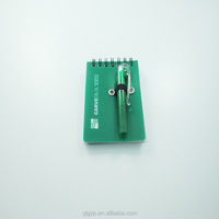 Promotional customized PP pocket notebook with pen