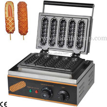 Commercial Use Non-stick 110v 220v Electric 5pcs French Hot Dog on A Stick Lolly Waffle Maker