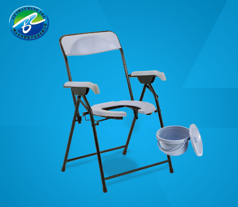 Hot sale Elderly Disabled steel folding commode bath chair with cheap price