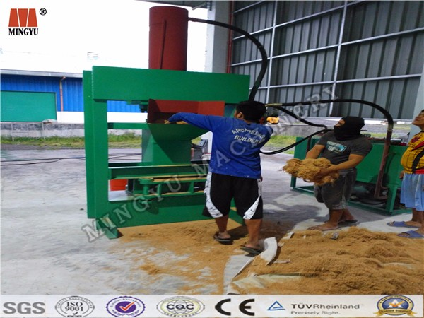 Fiber Processing Line Oil Palm Defibering Machine/coconut fibre shell coir fiber extracting machine