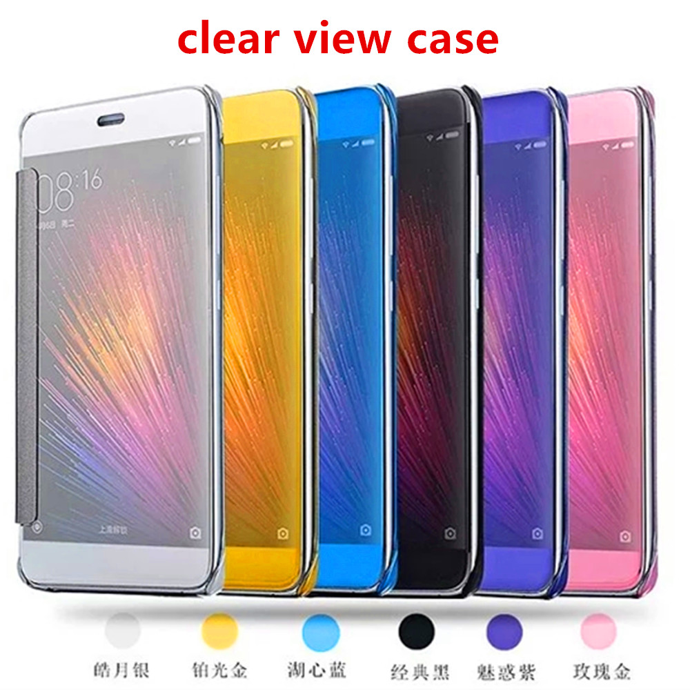 Hot Products Clear View Mirror Window Smart Flip Leather Case Cover For LG G5