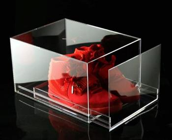 Dyuan Factory Custom Acrylic Box Shoe Storage Perspex with Drawer