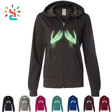 Glow in the Dark Skeleton Hands Ladies no name brand Zip-Up Hoodie Hooded Sweatshirt Men Women Pullover Hoodie Blank Hoodies
