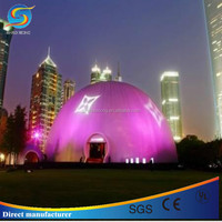 Multifunction inflatable LED lighting igloo tent,indoor/outdoor inflatable dome tent with good price