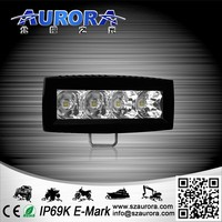 "E-mark and waterproof AURORA 4"" single row light LED bars for bull bar"