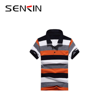 200gsm 100% Pique Cotton Mens Polo Collar T shirt Custom Three Color Combination Polo Shirt OEM