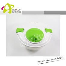 Large manual Salad Mixer Salad Maker with Stopper Salad Spinner