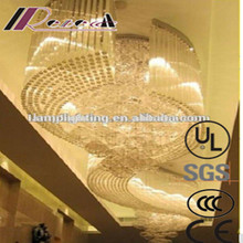 Modern design luxury crystal shiny large project hotel chandelier