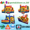 New 4 in 1 cheap bouncy castle combo for sale gaint inflatable bouncer slide with obstacle