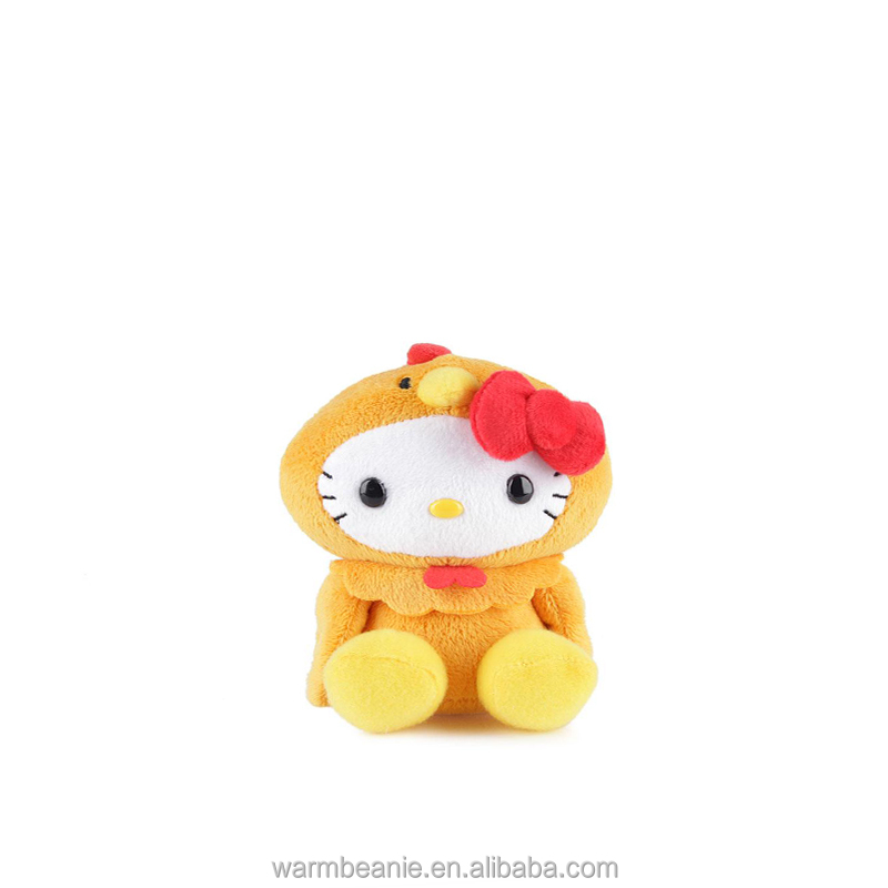 Promotional Suntown manufacturer custom cheap plush stuffed animal toys,cute nice yellow cartoon cat with red flower toys gifts