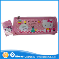 quanzhou durable polyester pencil case,hello kitty pencil bag for kids
