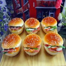 Fake 3D hamburger series/ Simulation bread with vegetables for refrigerator magnet /Hamberger model for display