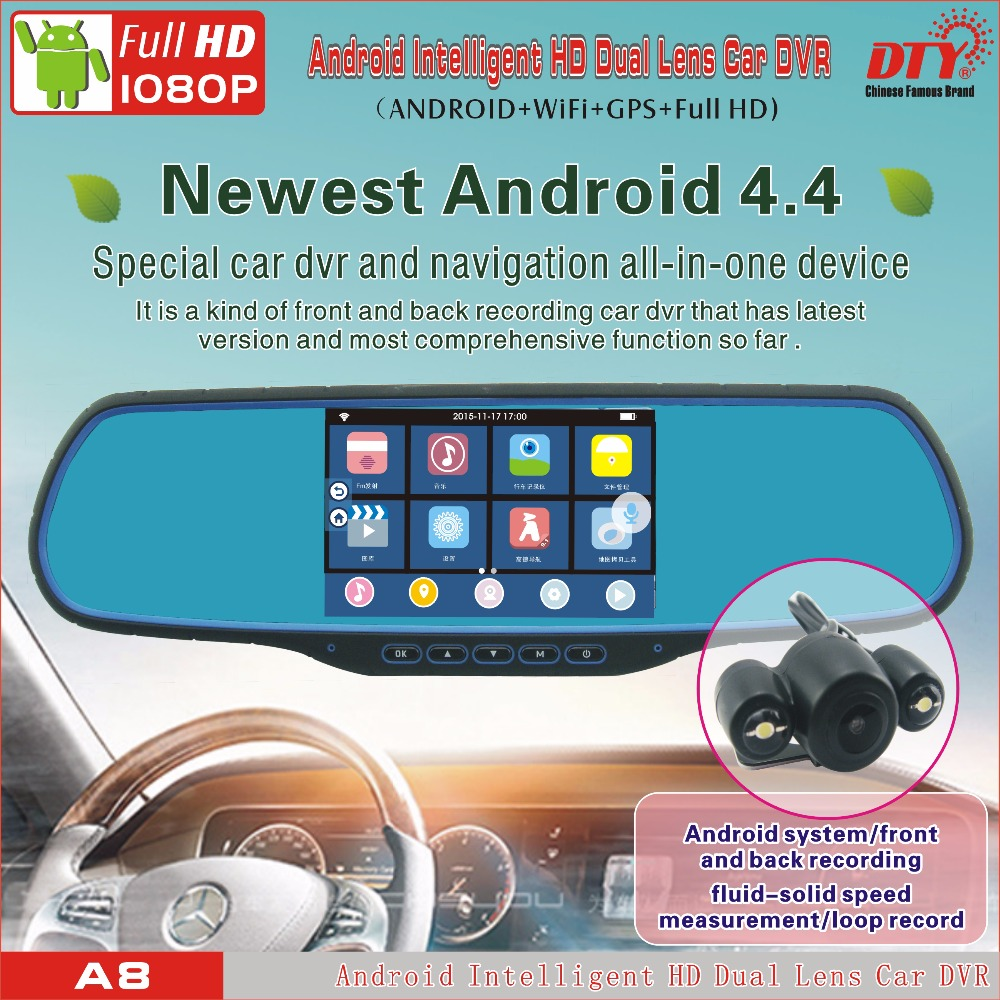 cell phone controlled remote camera,Android 4.4 system car cam hd car dvr,car rearview mirror car dvr gps,A8