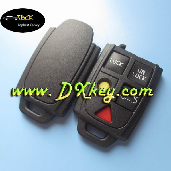 Top best high quality 5 buttons remote key S60,S80,V70,XC70,XC90 remote unit case for volvo car key shell
