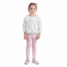 Little Girl Model Top 100 Best Selling Items Stylish Lace White Fashion Tops