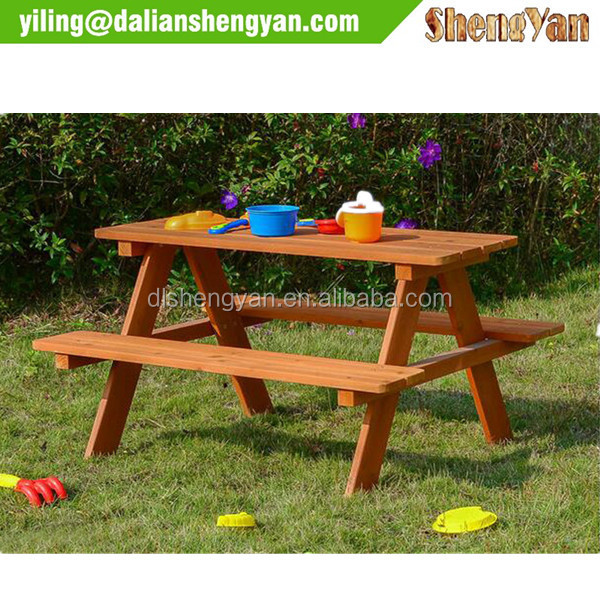 Outdoor Timber/Wood Picnic Tables with Benches