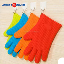JianMei brand heat resistant cooking gloves set and thin waterproof bbq silicone gloves