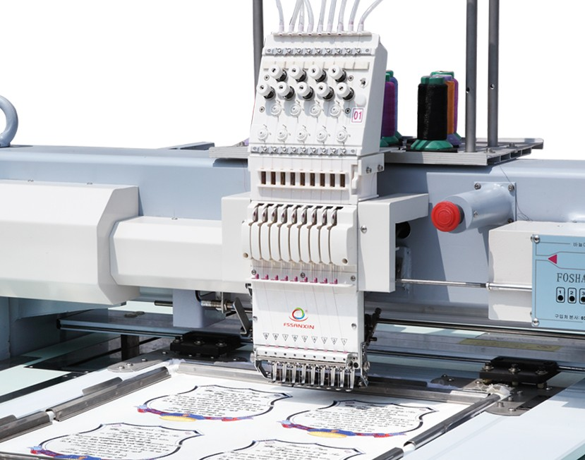 Hot sale single head high speed flat computerized embroidery machine single head embroidery machine