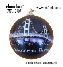inside painted glass ornament ball for christmas decoration