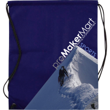 Drawstring Gym Sports Bag, Free-design Eye-catching Recyclable Non woven Drawstring Gym Sports Bags, PromoMakerMart