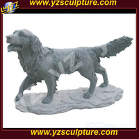 Garden animal marble sculpture of dog AMSN-D066
