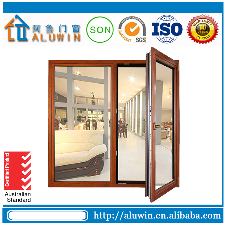 Aluminum Double Glass Hinged Windows/Aluminum Casement Window for Sale