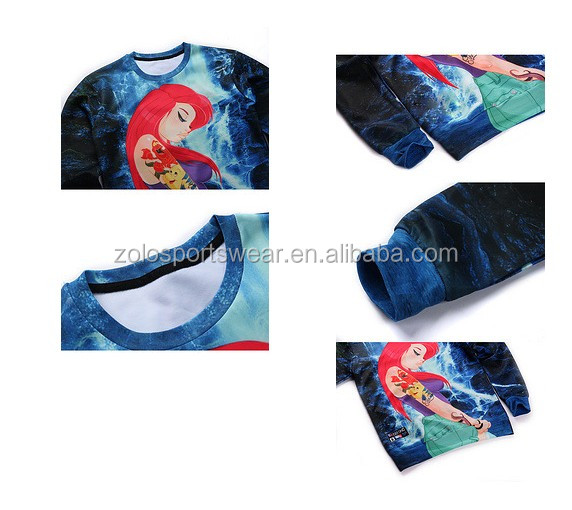 100% polyester wholesale custom sublimation hoodie