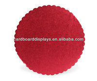 "Scalloped cake boards in 12""--Corrugated Cake Circles"