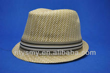 boy's natural straw fedora hat