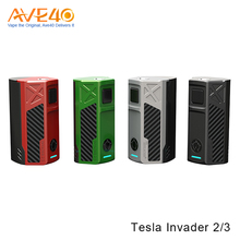 Alibaba Express Sole Agency New Product E Cigarette Box Mod Tesla Invader 2/3 From Ave40