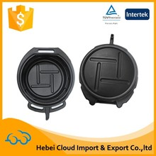 Portable peugeot plastic oil drain pan with handle