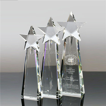 Crystal star trophy awards