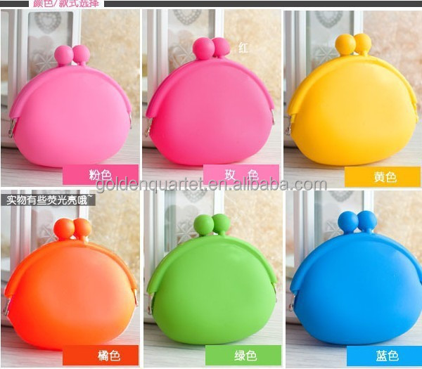 Popular Silicone Coin Purse / Wallet Different Shape Eco Friendly