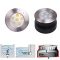 316 stainless steel remote control waterproof 12V underwater inground light for pool
