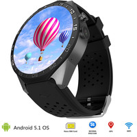 2017 new design HD screen 3G GPS phone mobile smart watch android