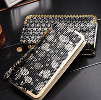 W71473G 2015 european style zip clip leather wallet for women handbags purses