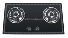 Double burner tempered glass Gas hob/Gas stove/Gas cooker