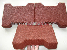 horse racing products caring red face dog-bone pavers rubber brick tile 23mm thickness